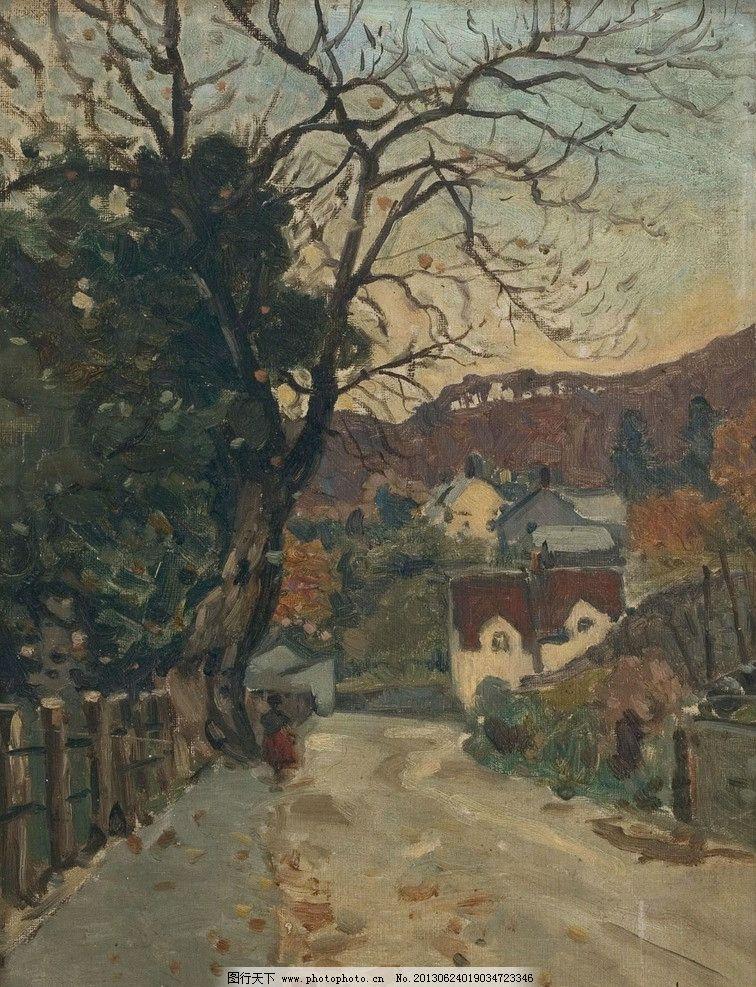 乡村油画图片
