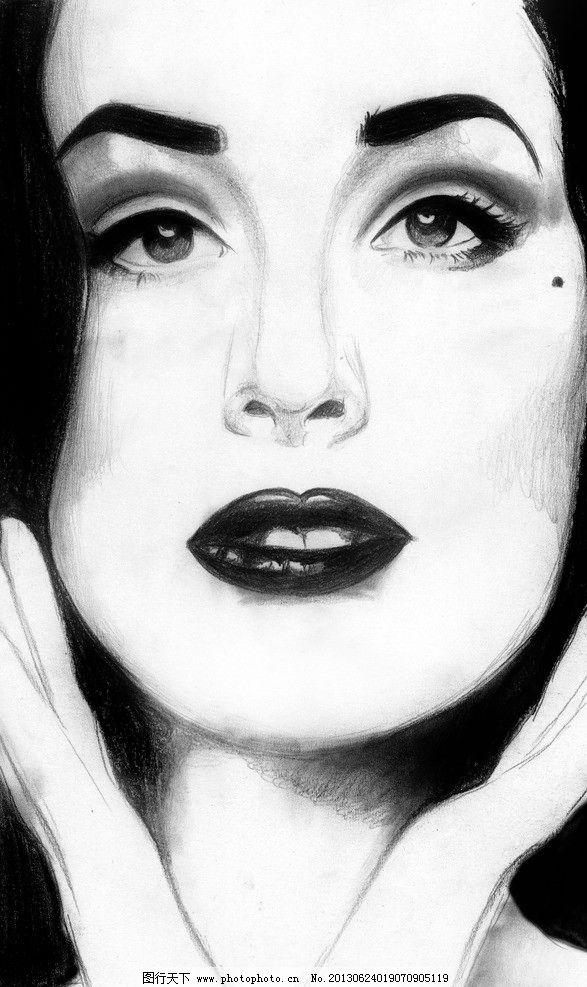 舞娘蒂塔万提斯 舞娘 蒂塔万提斯 明星偶像 手绘美女插图 素描人像