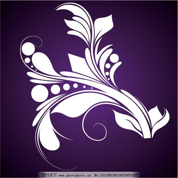 欧式华丽植物花纹 单色花纹 花草花纹 精美花纹 卷曲花纹 欧式花纹