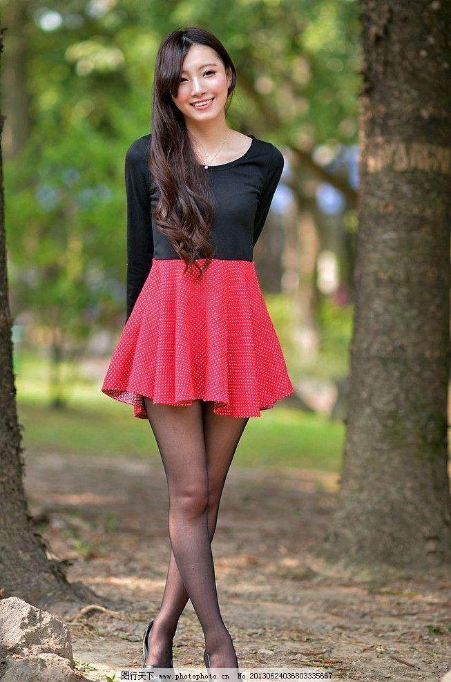 气质美女 清纯美女 性感美女 青春靓丽 可爱美女 黑丝高跟 红裙美女