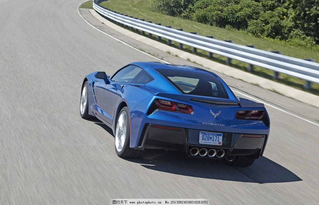 跑车 雪佛兰 豪车 轿车 轿跑车 豪华车 蓝色 敞篷 超级跑车 公路 驰骋
