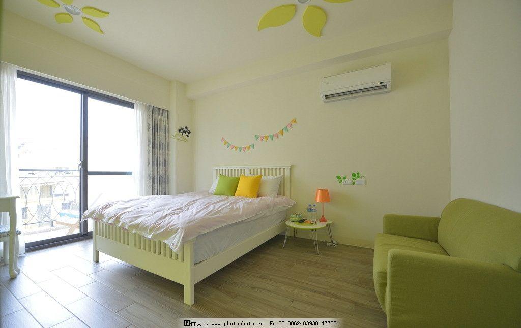 小清新卧室 简单装修 自然清新