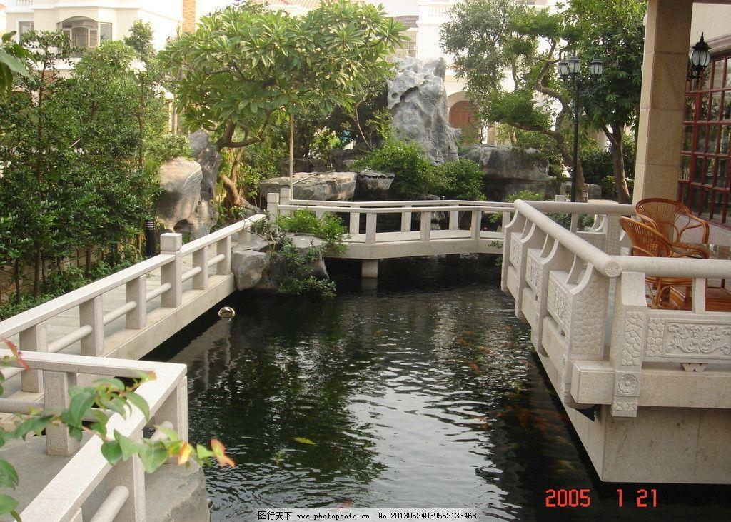 别院园林图片,中式 别墅 庭院 栏杆 雨棚 园林建筑-图