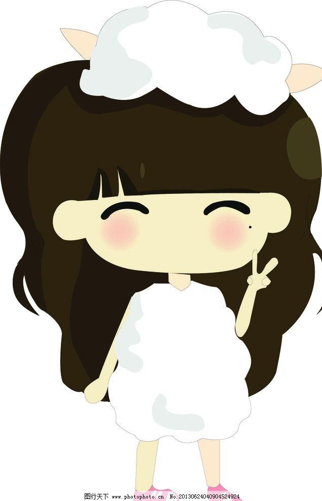 小希卡通女孩十二星座 卡通女孩 小希 可爱背景 白羊座 十二星座 矢量