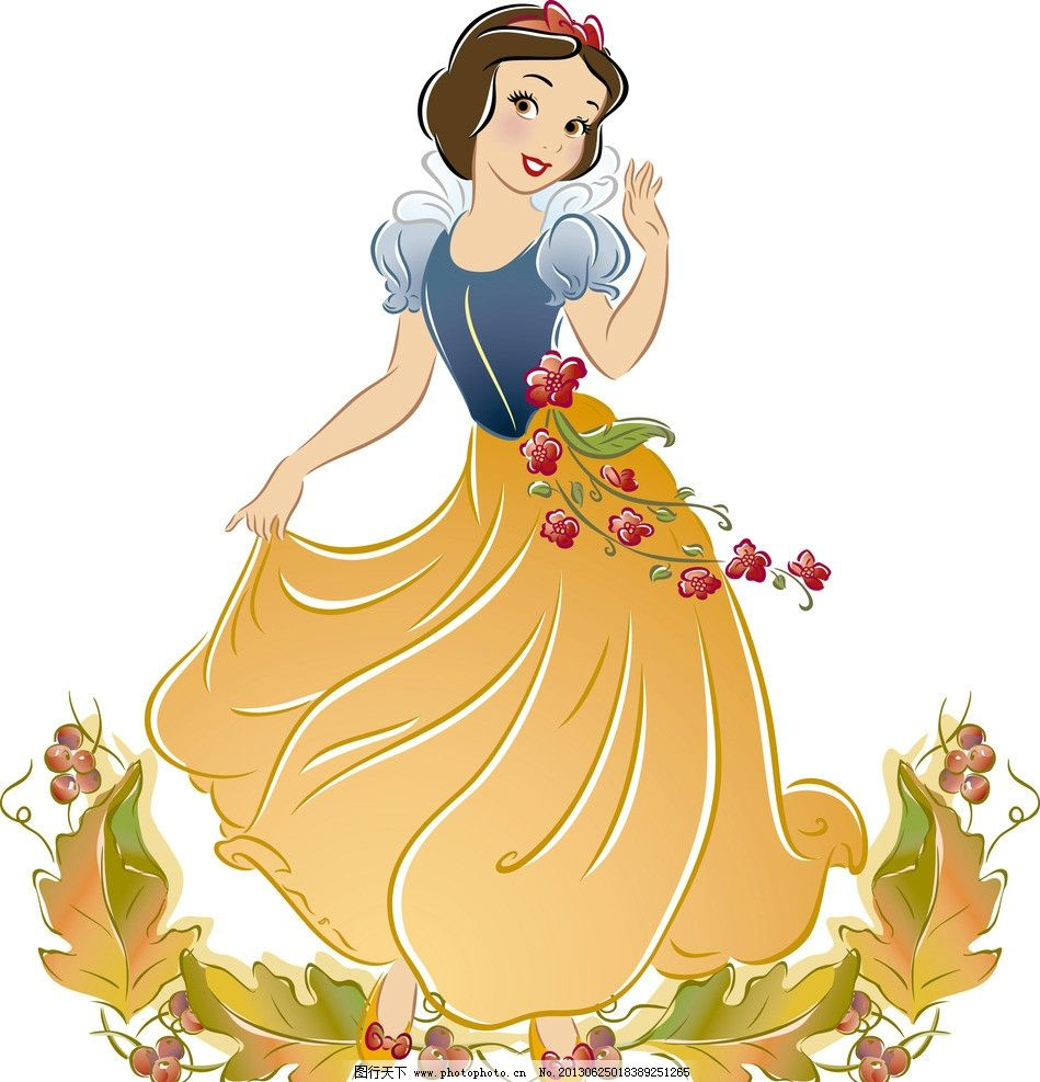 白雪公主 迪士尼 卡通 动漫人物 snow white 小矮人 动漫动画 设计