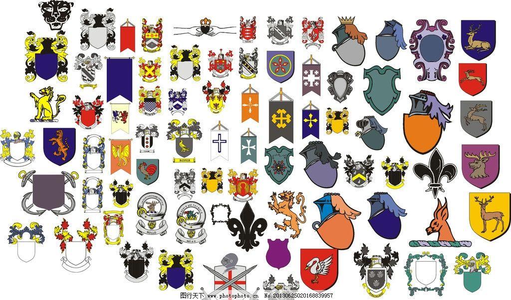 欧式素材 欧式标志 标志 鹿 欧式边框 其他 标识标志图标 矢量 cdr