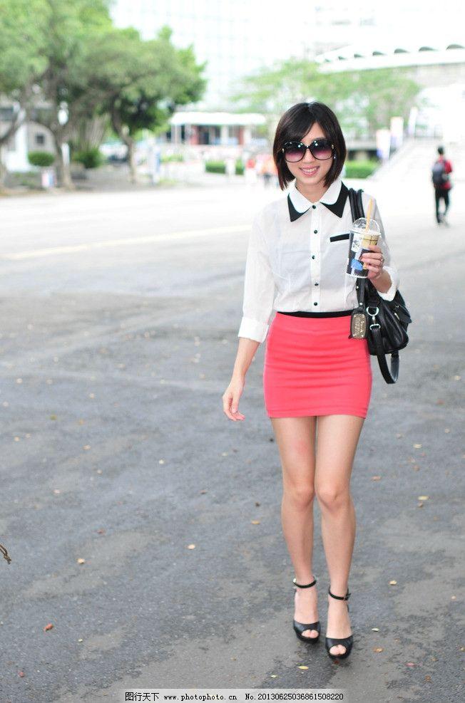 红色短裙美女 短发美女 清纯美女 可爱美女 气质美女 青春靓丽 性感