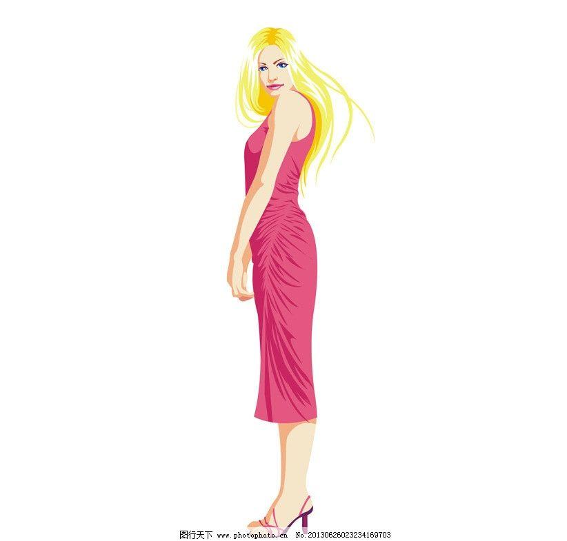 矢量人物 人物 妇女 女孩      女人 时尚 可爱 漂亮 女性 矢量 cdr