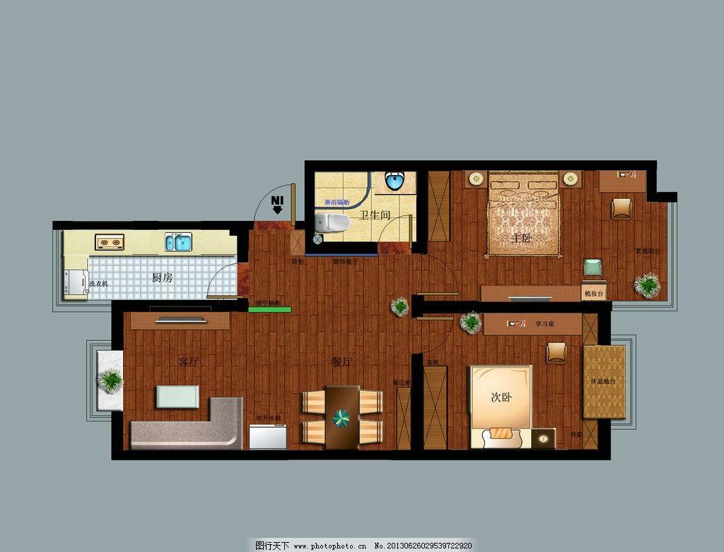 彩平图 室内彩平图 家装平面图 源文件 房地产广告 广告设计模板