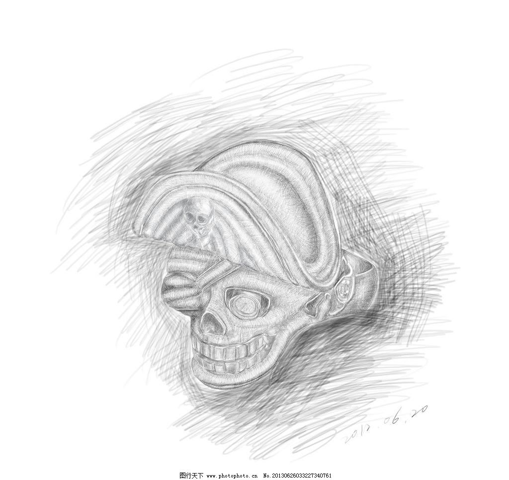 珠宝手稿 绘画书法 戒指 骷髅 素描 文化艺术 珠宝手稿设计素材