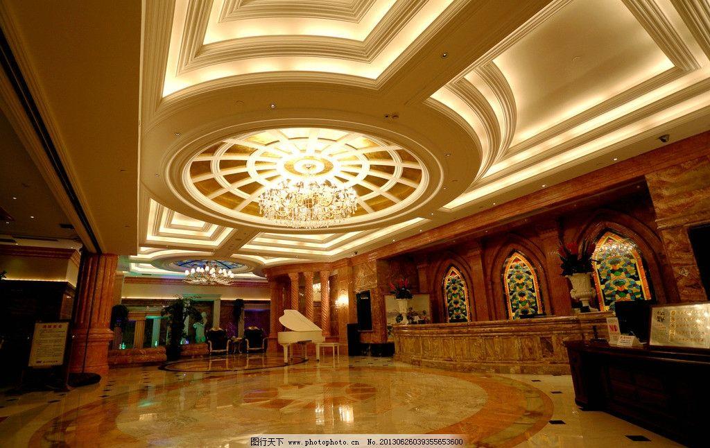 欧式奢华大厅 低调 奢华 欧式 大厅 钢琴 金色 室内摄影 建筑园林