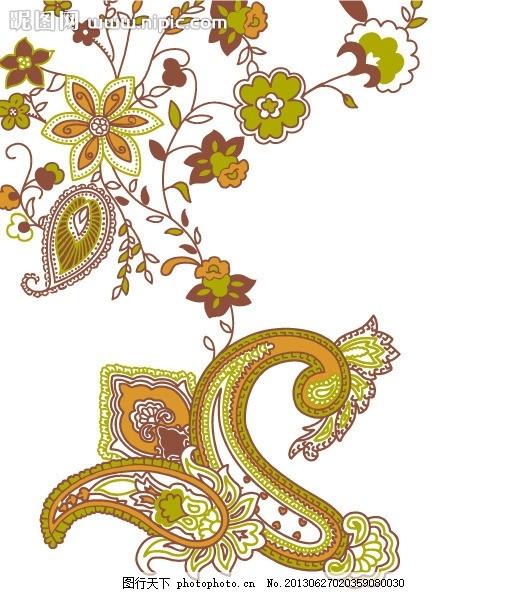古典花纹 花边 欧式 曲线 底纹 边角 花朵 叶子 藤蔓 复古