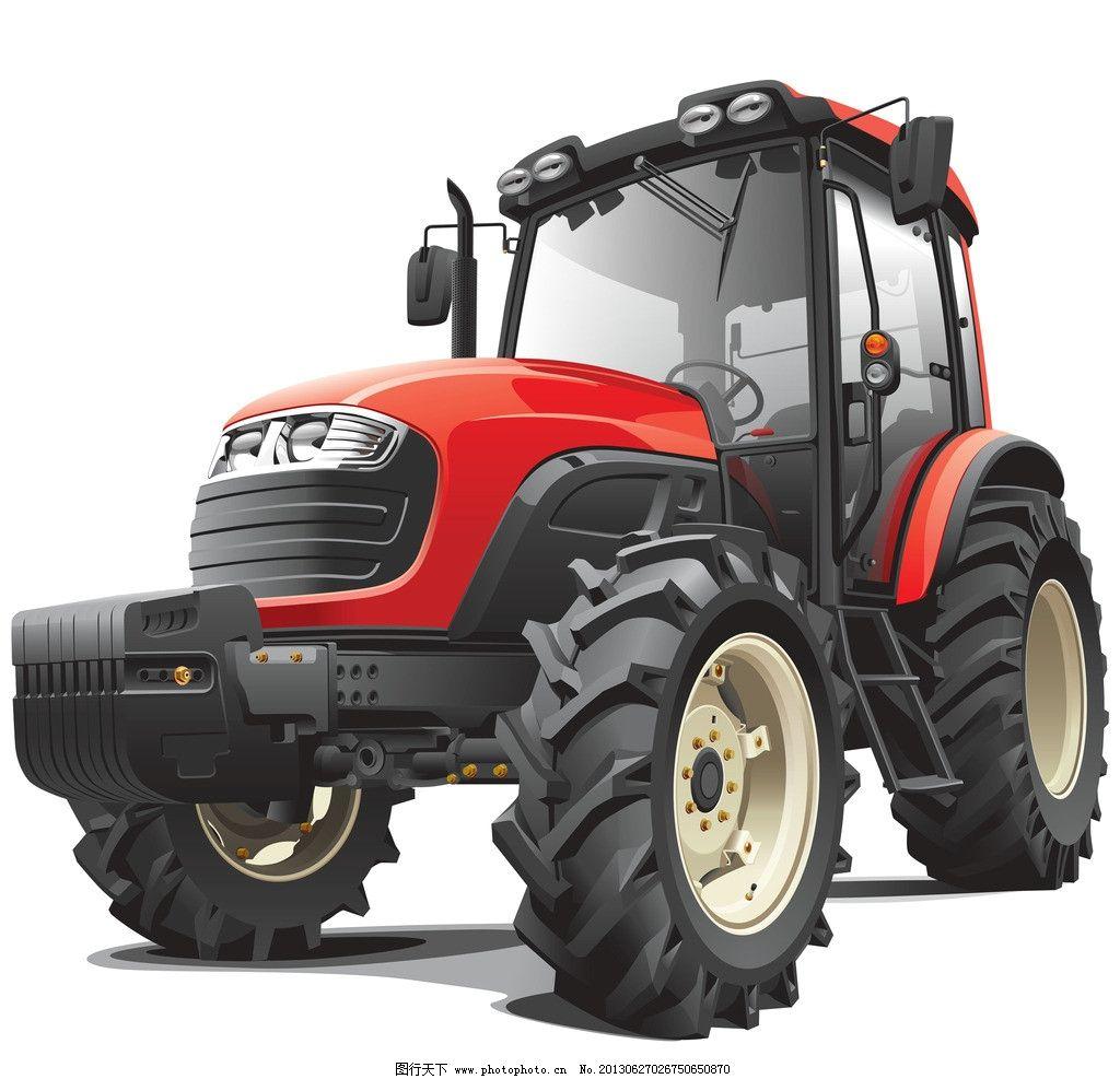 拖拉机 农用车 交通工具 汽车 交通 运输 运输工具 现代科技 矢量交通