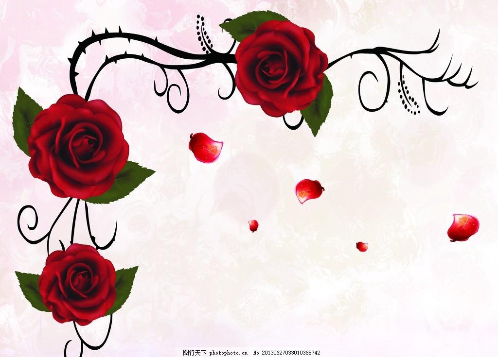 玫瑰花 无框画 版画 装饰画 十字绣 艺术画 抽象画 现代画 简约画图片