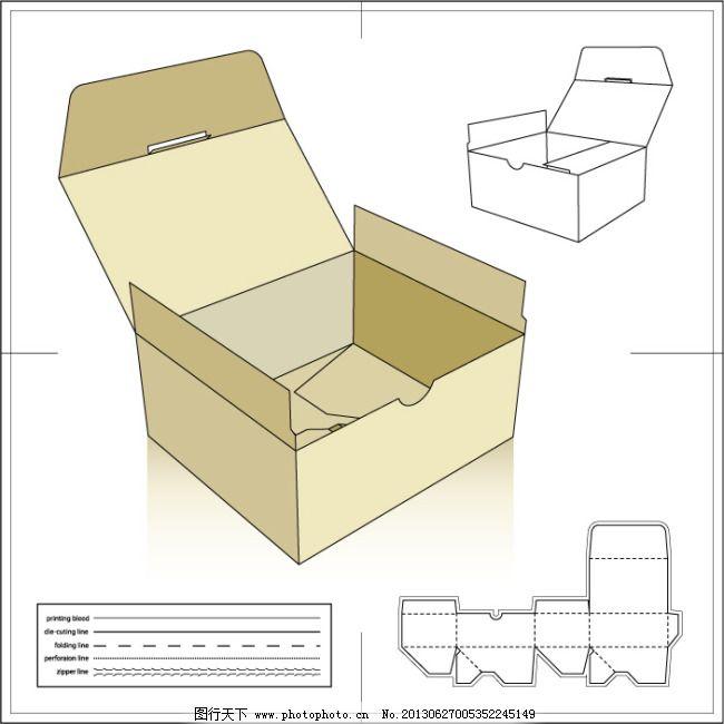 包装盒模板 包装盒展开图 包装模板 包装设计 纸盒 纸箱 标准包装箱