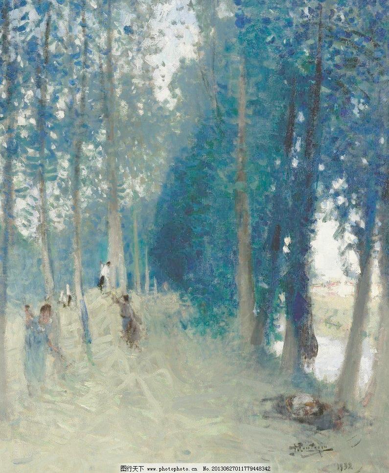 风光 风景 风景画 绘画书法 精品 美景 森林油画设计素材 森林油画图片