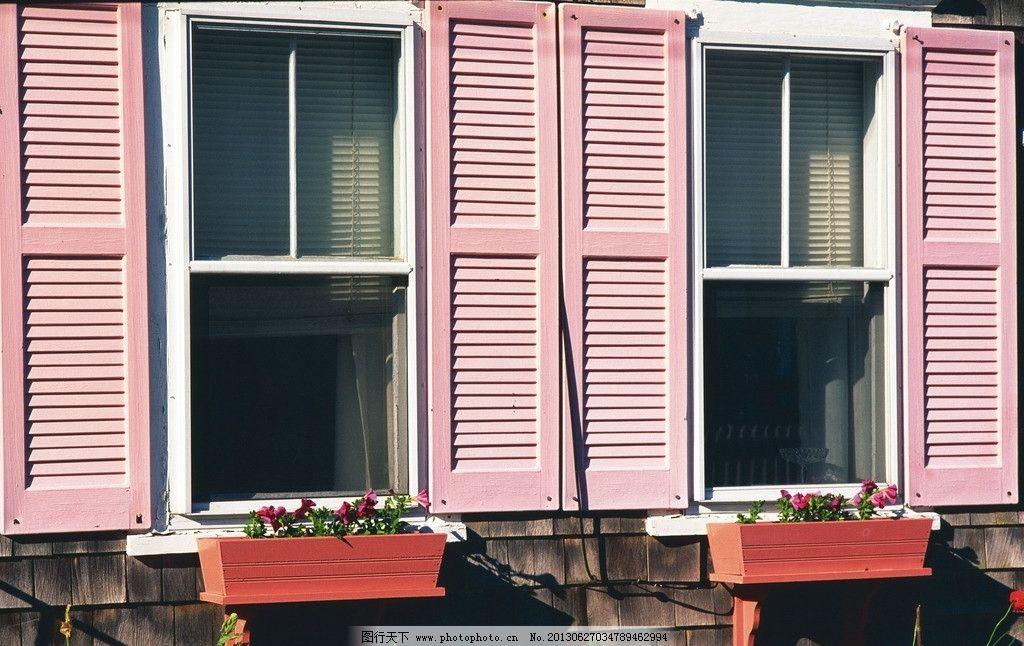 房屋 建筑 房子 公园 庭院 绿化 花卉 种植 窗户 门窗 欧式 国外 绿色