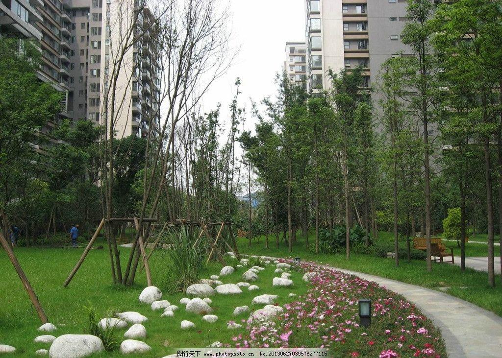 小区景观 小区 景观 环境 植物 设计 园林建筑 建筑园林 摄影 180dpi
