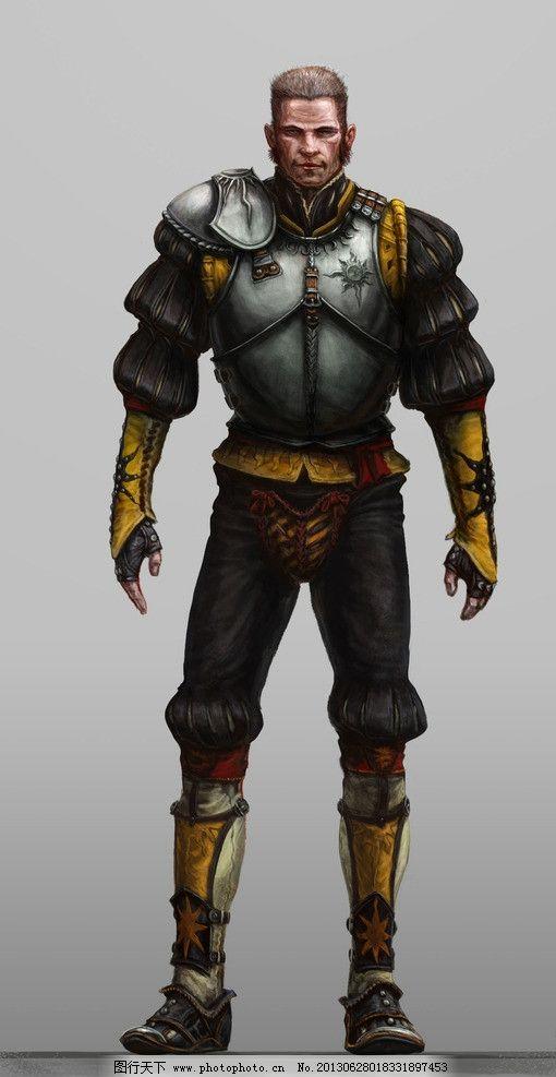 骑士 武士 铠甲 古代战争 冷兵器 动漫人物 动漫动画 设计 150dpi jpg