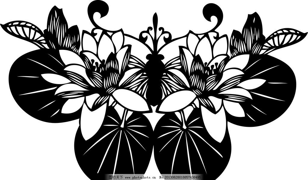 手绘花卉变形_折纸蝴蝶设计_第4页_设计展示