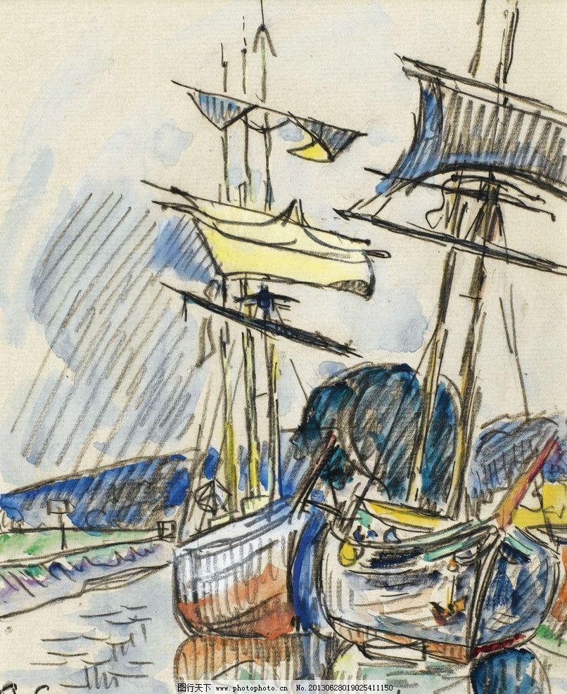 帆船油画图片_绘画书法_文化艺术_图行天下图库