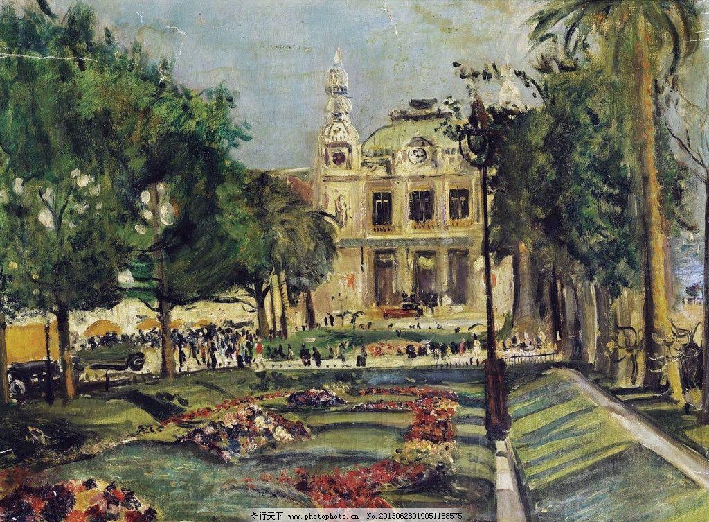 皇宫建筑油画 皇宫 皇室
