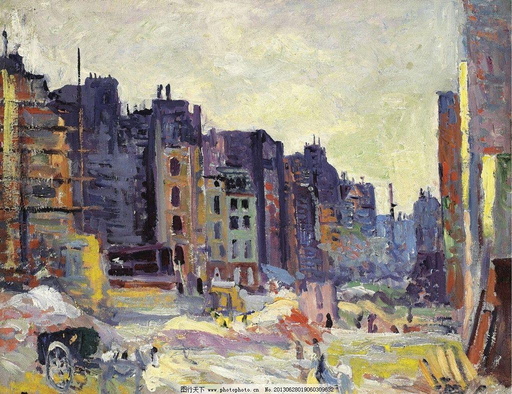 欧洲城市油画图片_绘画书法_文化艺术_图行天下图库图片