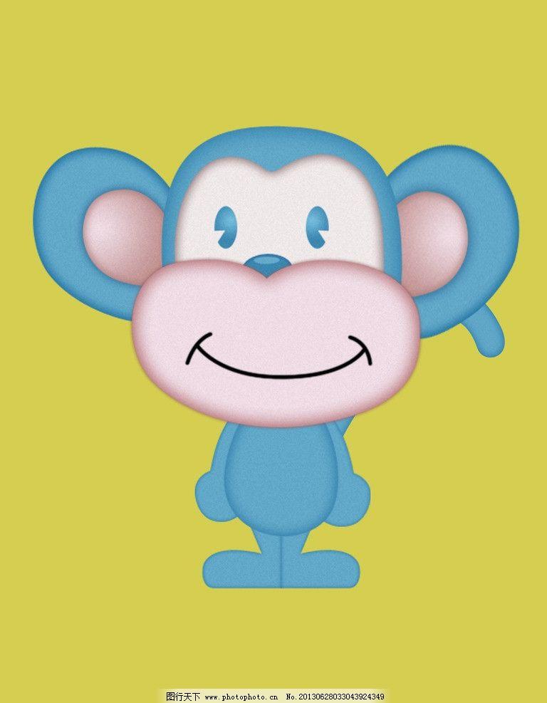 可爱小猴子 卡通 猴子