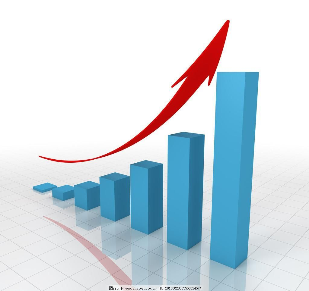 上涨箭头-股票图片图片