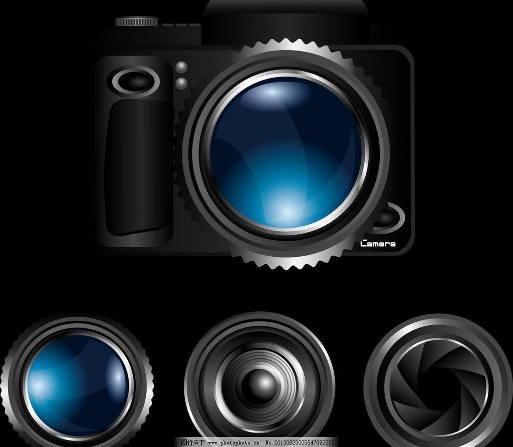 相机镜头图片_现代科技_矢量图_图行天下图库