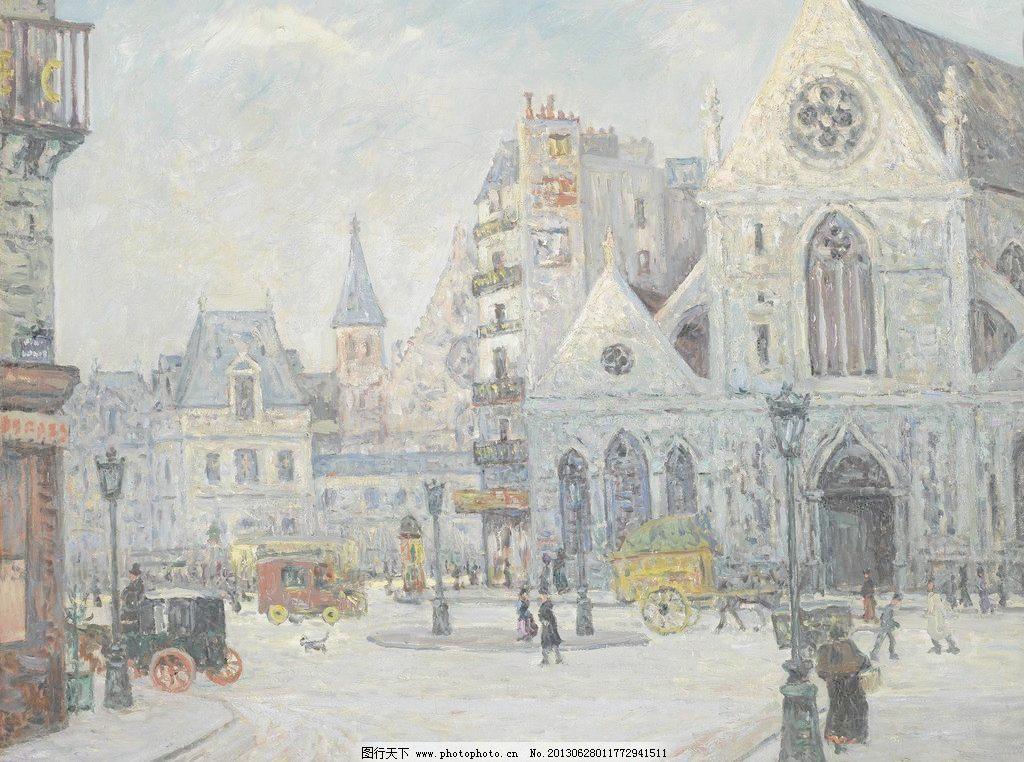 72dpi tif 壁画 风光 风景 风景画 绘画书法 精品 美景 美术 欧洲建筑图片