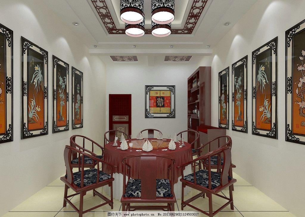 酒店单间效果图 室内 酒店        中式 现代 酒柜 酒店装修设计 3d