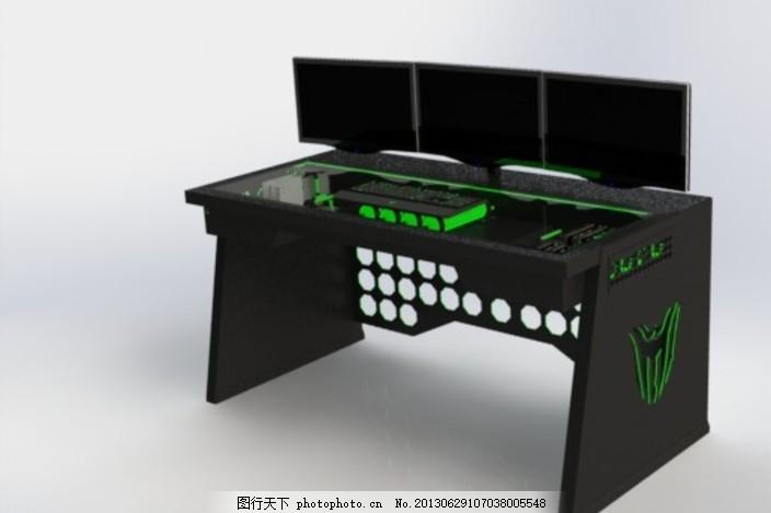 书桌 家具 爱好 技术 sldprt 黑色