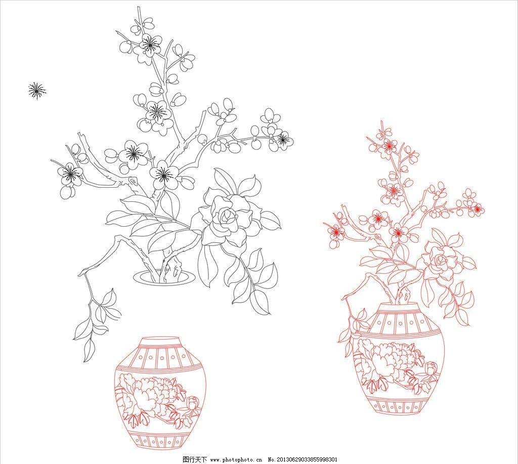 梅花花瓶图片