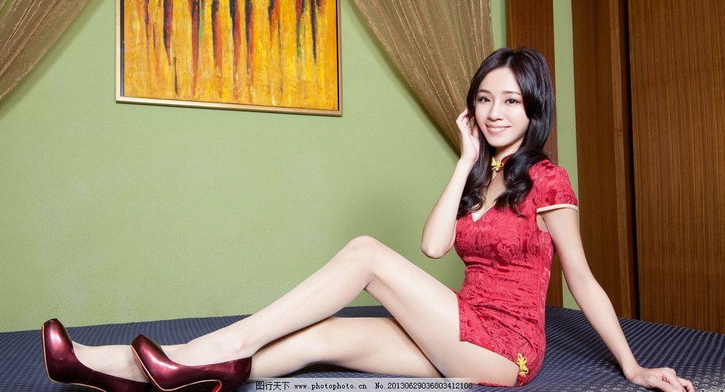 旗袍美女 气质美女 清纯美女 高挑美女 长发美女 美腿高跟 古典优雅图片