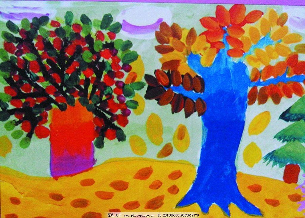 卡通 儿童 动漫动画 绘画书法 文化艺术 设计 风景 树 小树 72dpi jpg