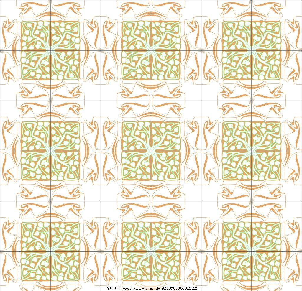 几何现代图案 二方连续 单独 四方连续 底纹 纺织品设计图片