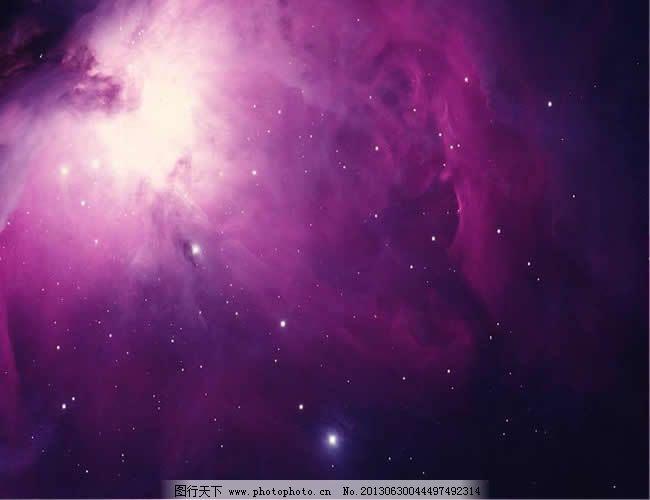 紫色梦幻星空背景ppt模板